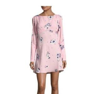 Free People Sun Shadows Mini Dress w/ slit sleeves